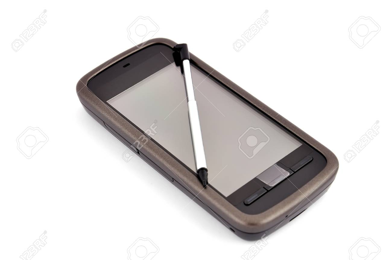 touchscreen mobile phone on white background Stock Photo - 9018561