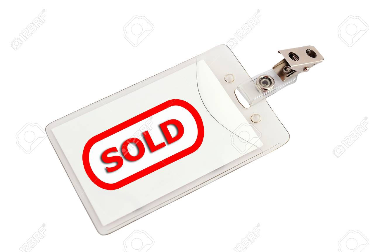 badge sold  on a white background Stock Photo - 15657054