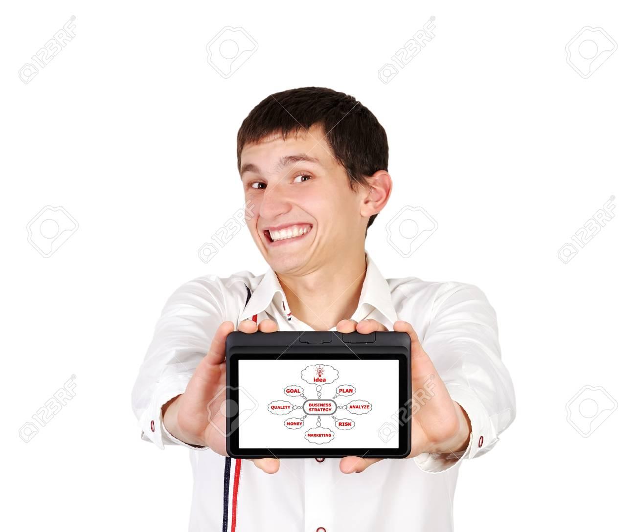scheme business strategy on digital tablet Stock Photo - 15977464