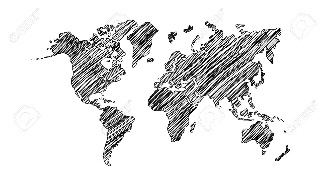 Drawing world map on white background stock photo picture and drawing world map on white background stock photo 16484547 gumiabroncs Image collections