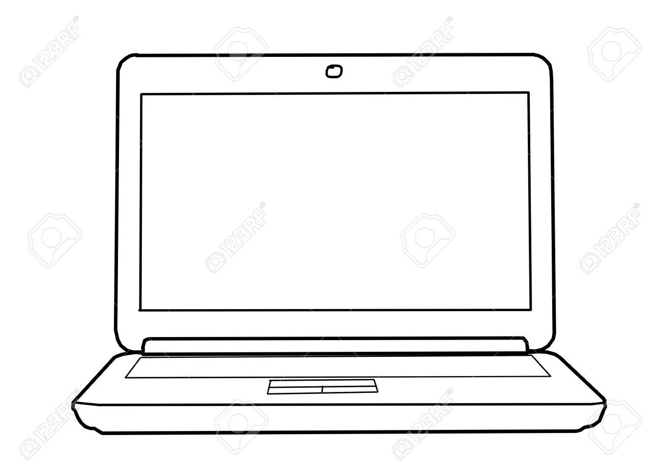 Dessin Ordinateur Portable Avec Systeme De Referencement Sur La