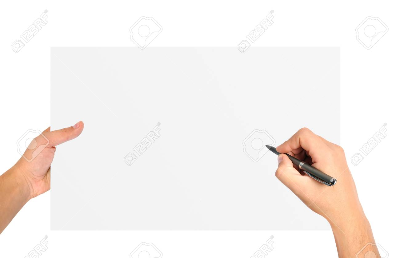 blank sheet of paper to write on