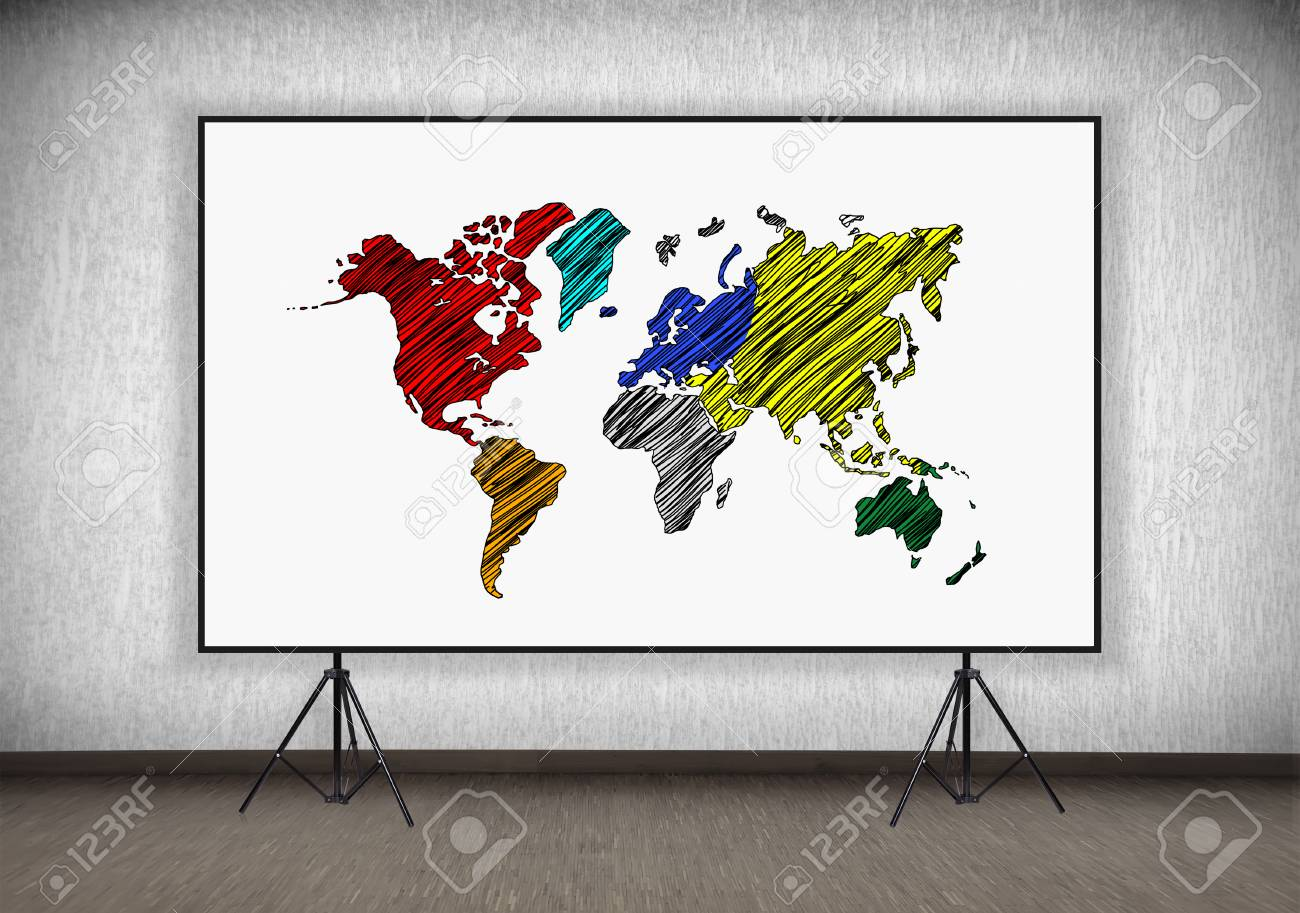 Desk with world map on a stand in room stock photo picture and desk with world map on a stand in room stock photo 36134024 gumiabroncs Choice Image