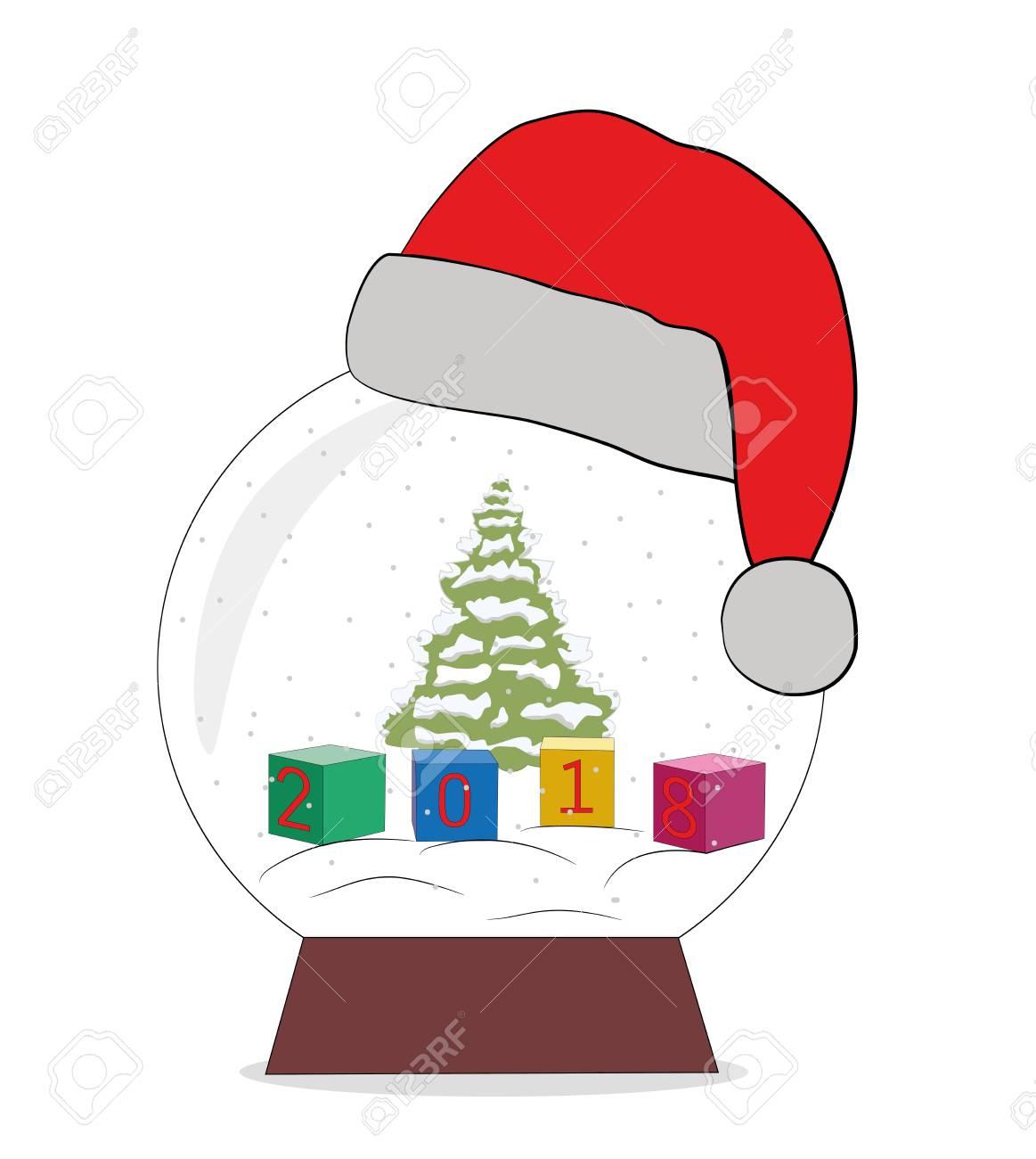 Immagini Natalizie Vettoriali.Cubi Con I Numeri Concetto Di Capodanno E Festivita Natalizie Illustrazione Vettoriale