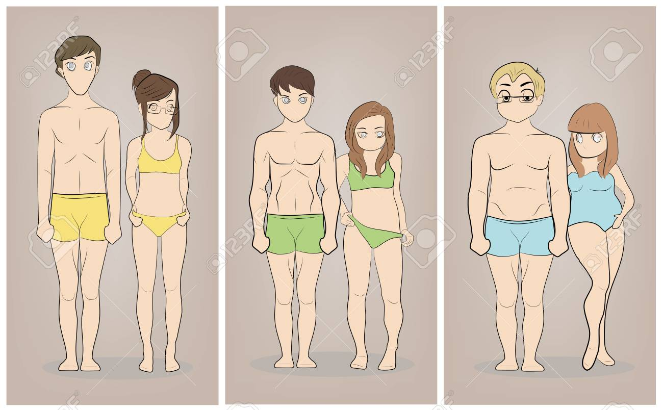 Male And Female Body Types Ectomorph Mesomorph And Endomorph Royalty Free Cliparts Vectors And Stock Illustration Image 91022988 Learn how you can change your body type to ectomorph, mesomorph, or endomorph. male and female body types ectomorph mesomorph and endomorph