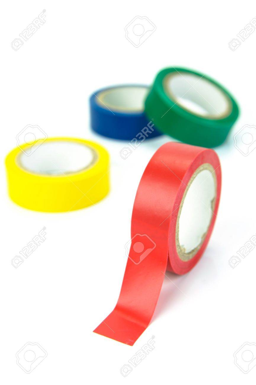 Electrical tape isolated against a white background Stock Photo - 4192392