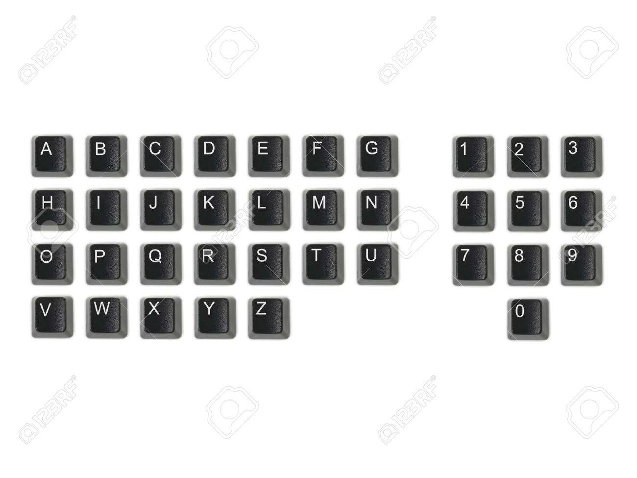 A keyboard key isolated against a white background Stock Photo - 8286861