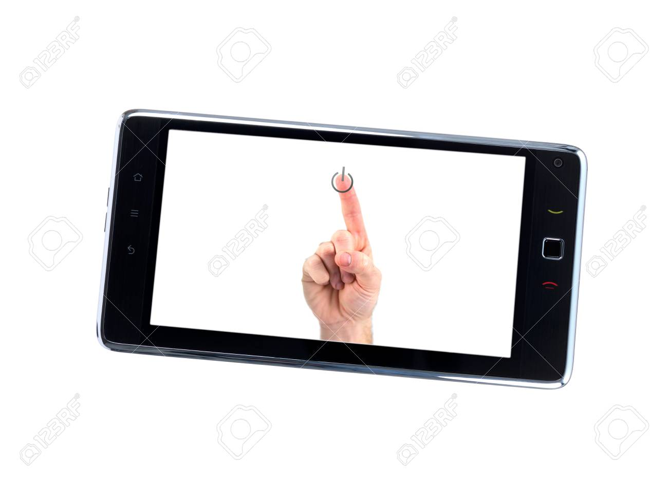 pc tablet isolated against a white background Stock Photo - 8446379