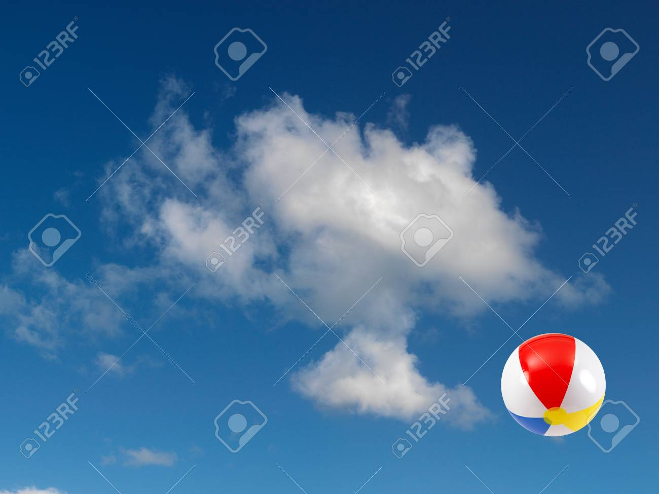 A beach ball in the sky Stock Photo - 9344646