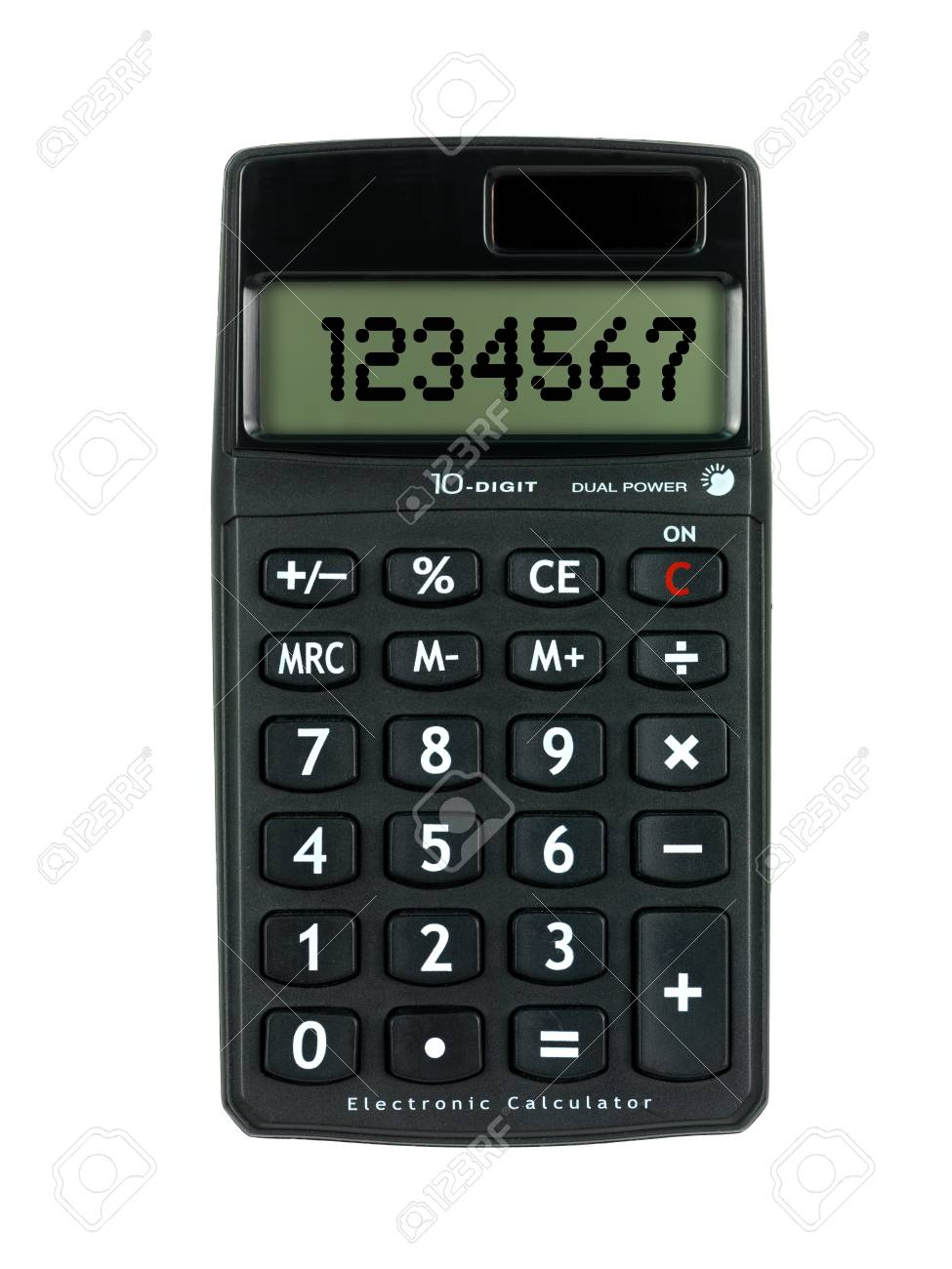 A calculator isolated against a white background Stock Photo - 9421018