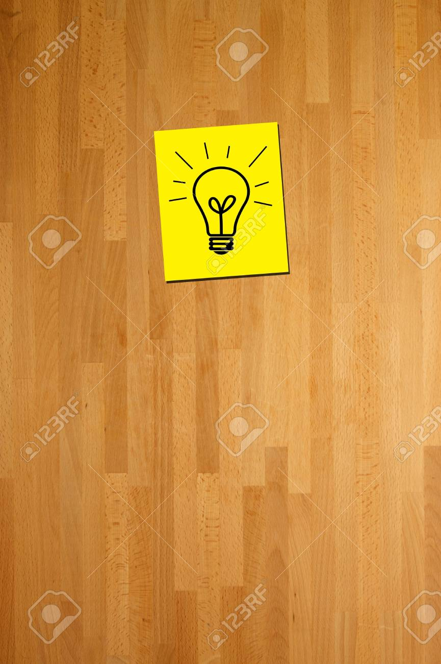 A post it note of a bright idea Stock Photo - 9866008
