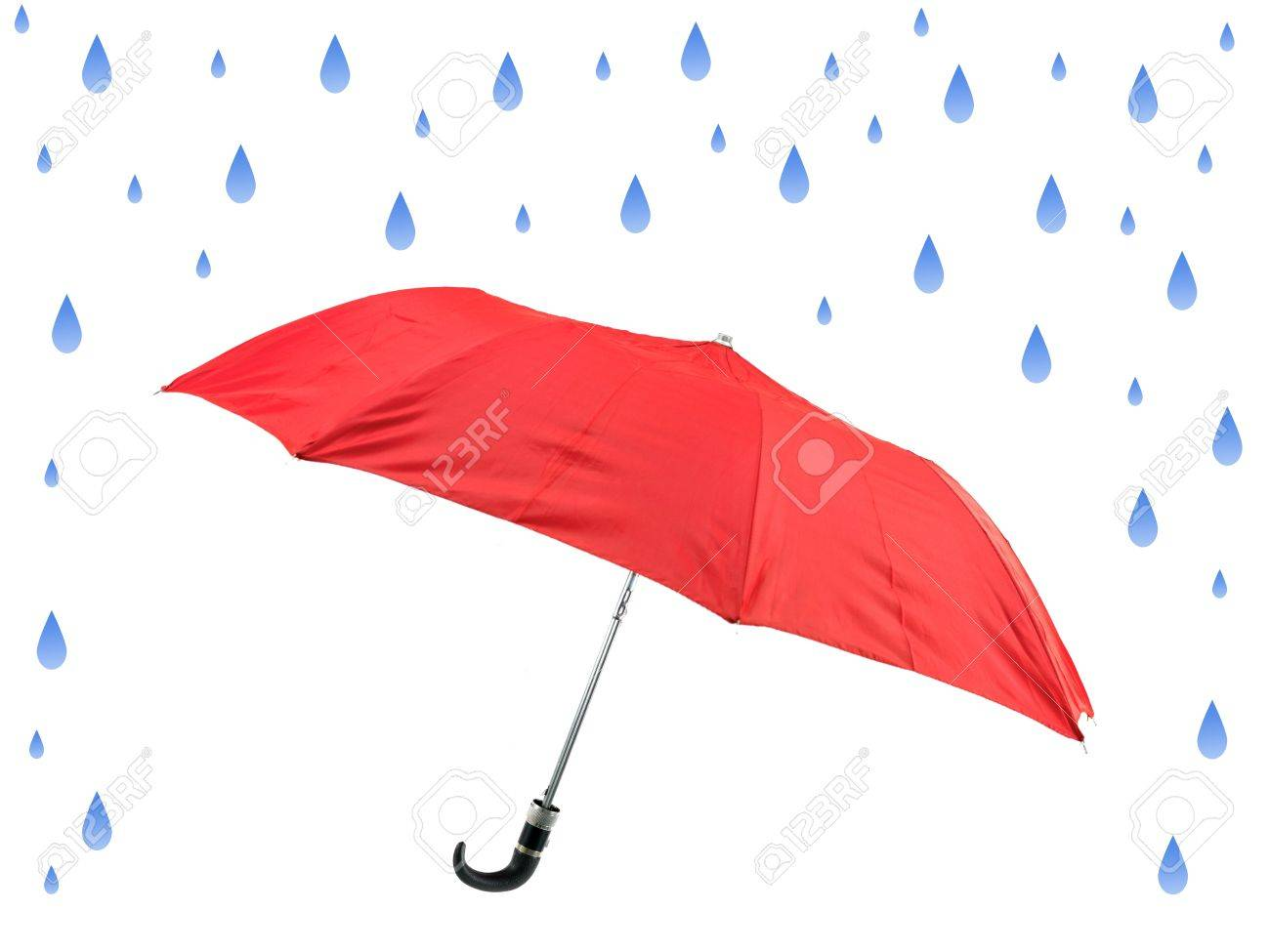 An umbrella isolated against a white background Stock Photo - 10359106