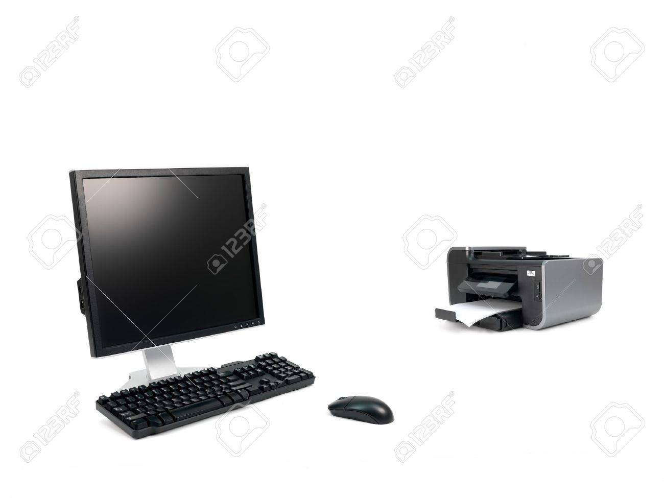 A desktop computer isolated against a white background Stock Photo - 10358861