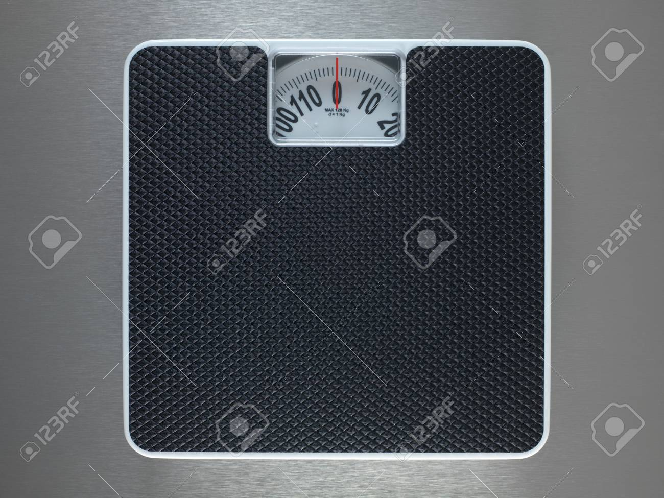 Bathroom scales isolated against a metallic background Stock Photo - 10485991