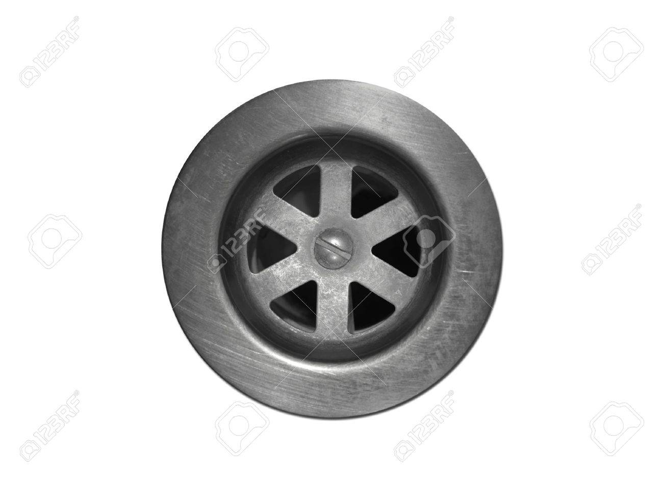 A drain hole isolate on a white background Stock Photo - 11091094