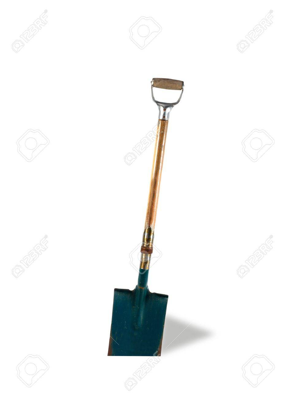 A garden shovel isolated against a white background Stock Photo - 11932671
