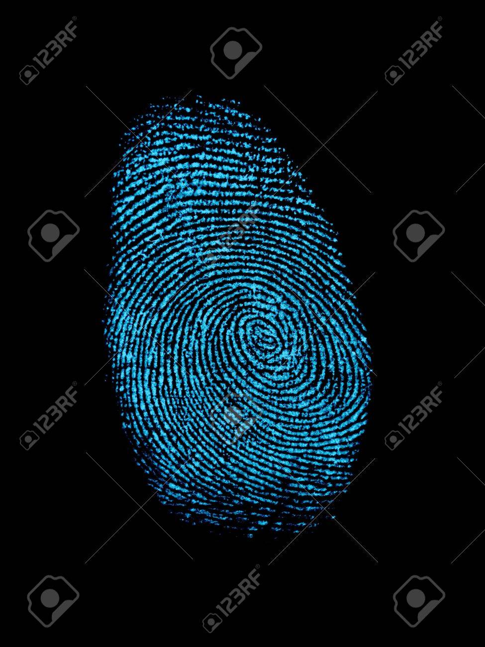 A finger print isolated against a white background Stock Photo - 12388547