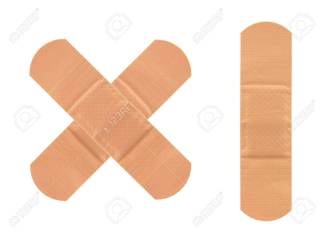 A band aid isolated against a white background Stock Photo - 13422451