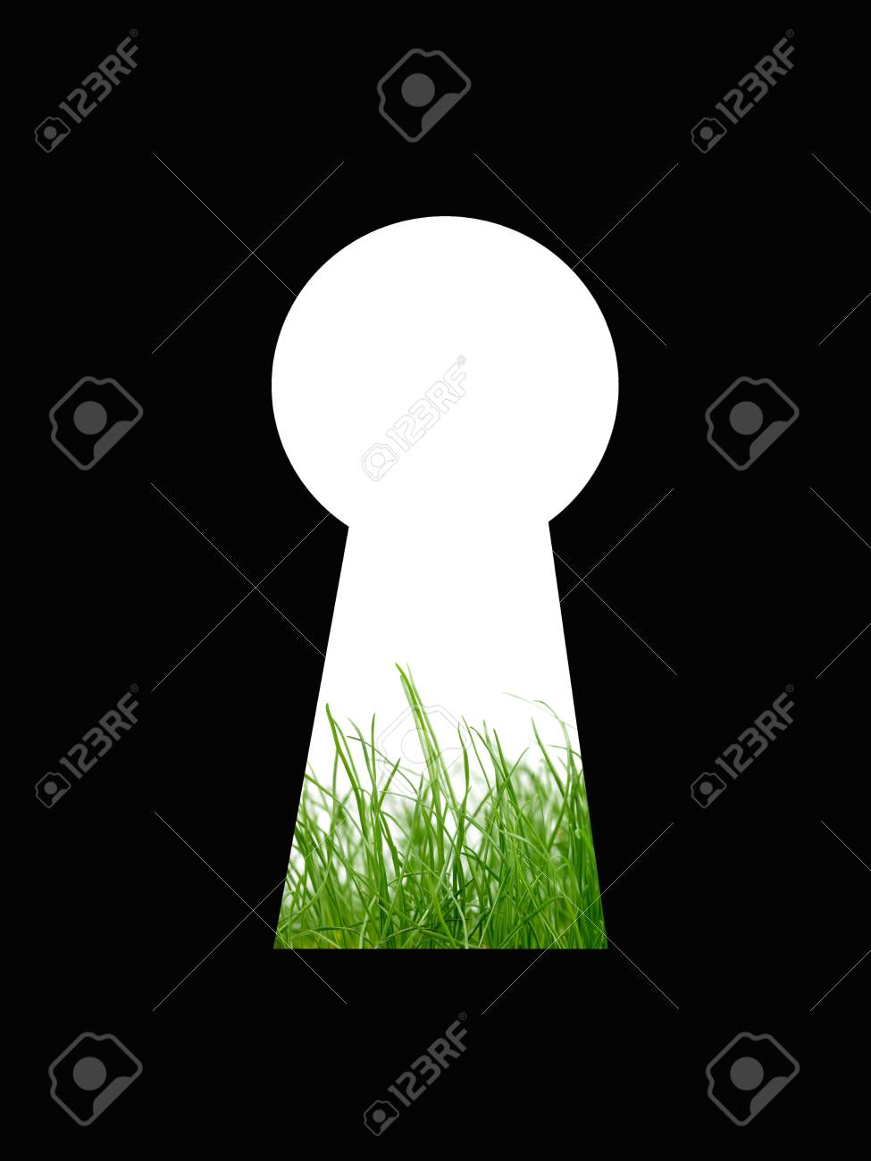 A keyhole isolated against a black background Stock Photo - 13422550