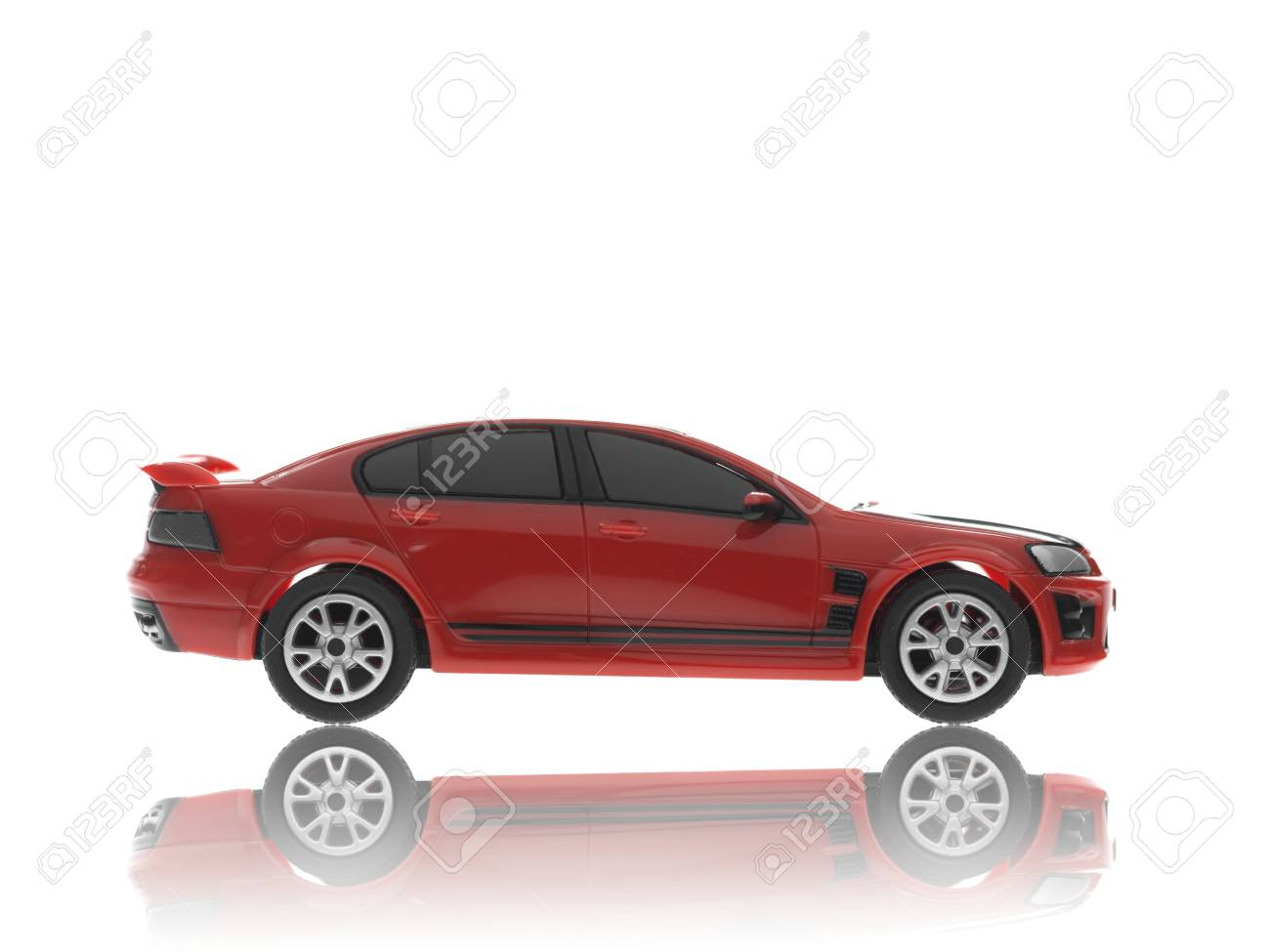 A toy sports car isolated against a white background Stock Photo - 13657899