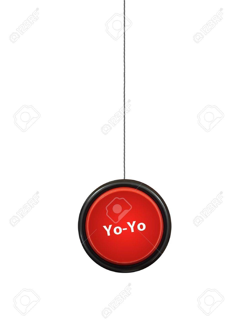 A toy yoyo isolated against a white background Stock Photo - 14782966