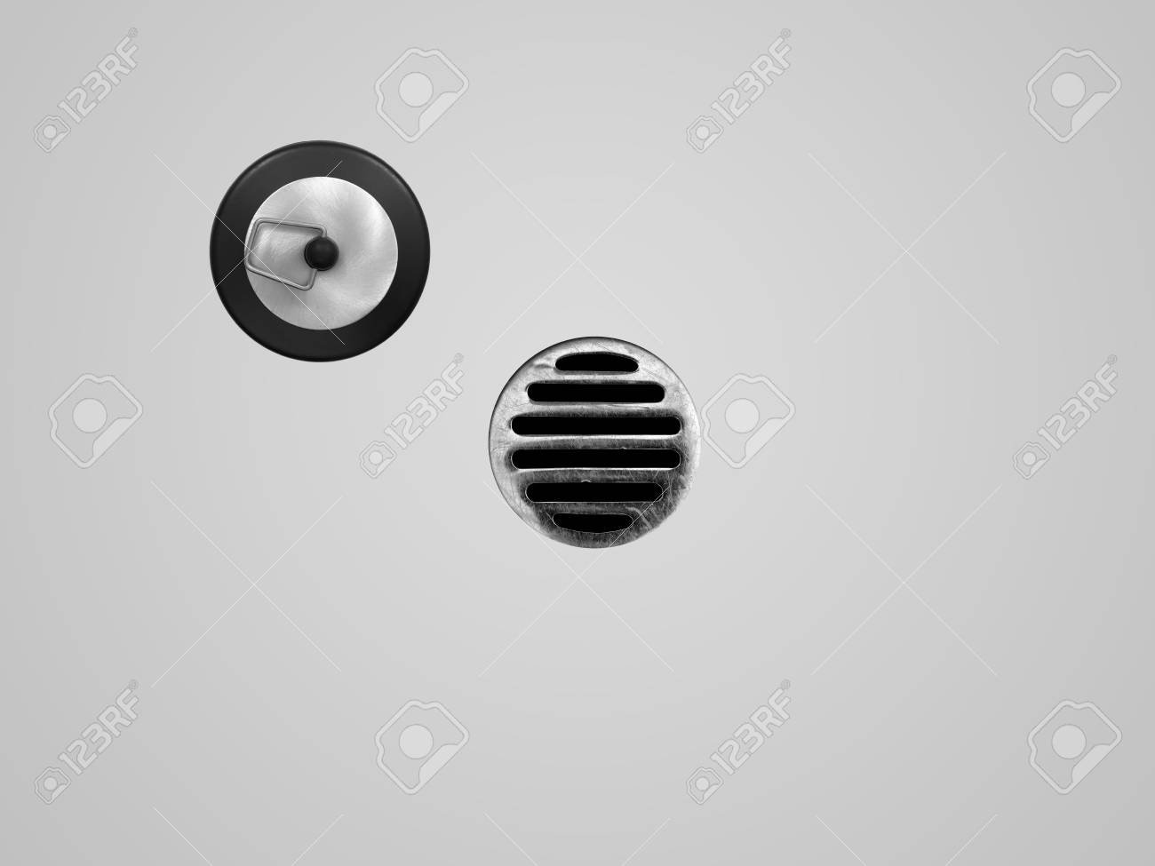 A drain hole isolate on a white background Stock Photo - 15117493