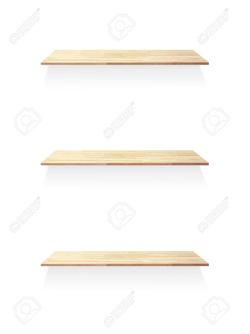 A wooden book shelve isolated against a white background Stock Photo - 15806747
