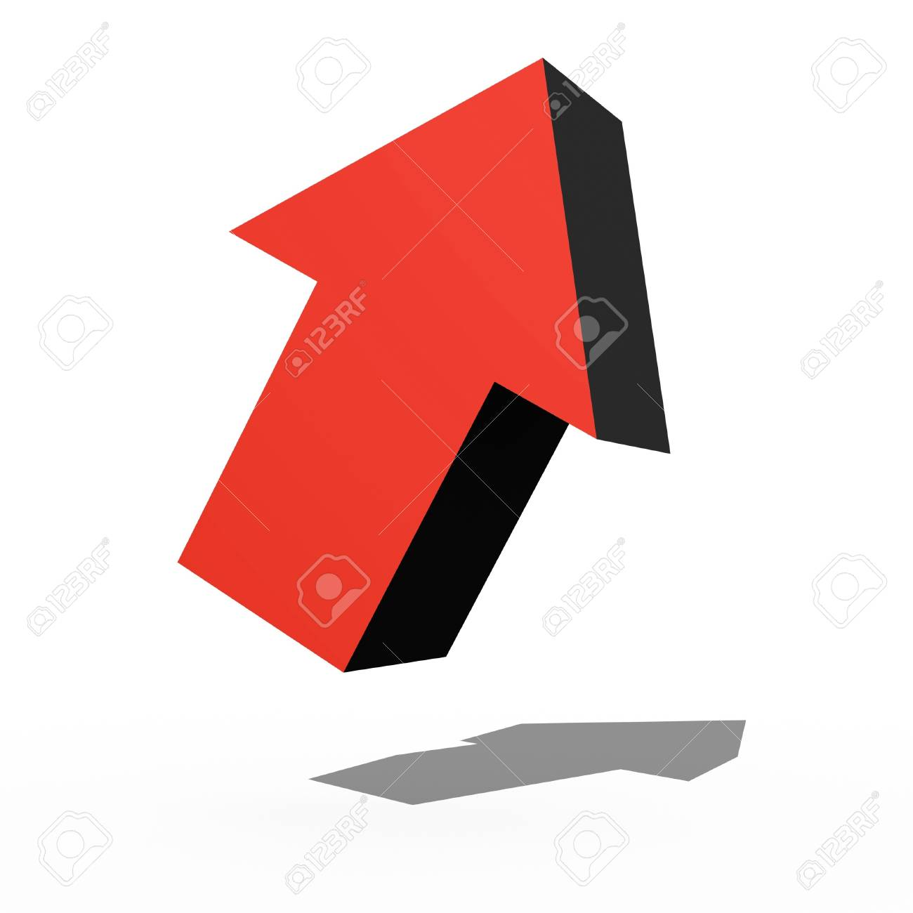 A 3d arrow sign isolated against a white background Stock Photo - 16067694