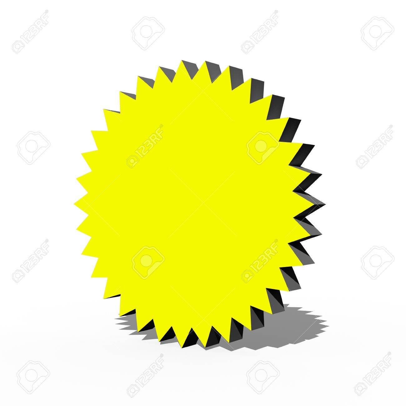 A 3d multi point star on a white background