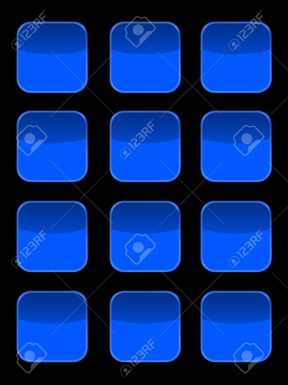 A modern keypad layout isolated on white Stock Photo - 17456070