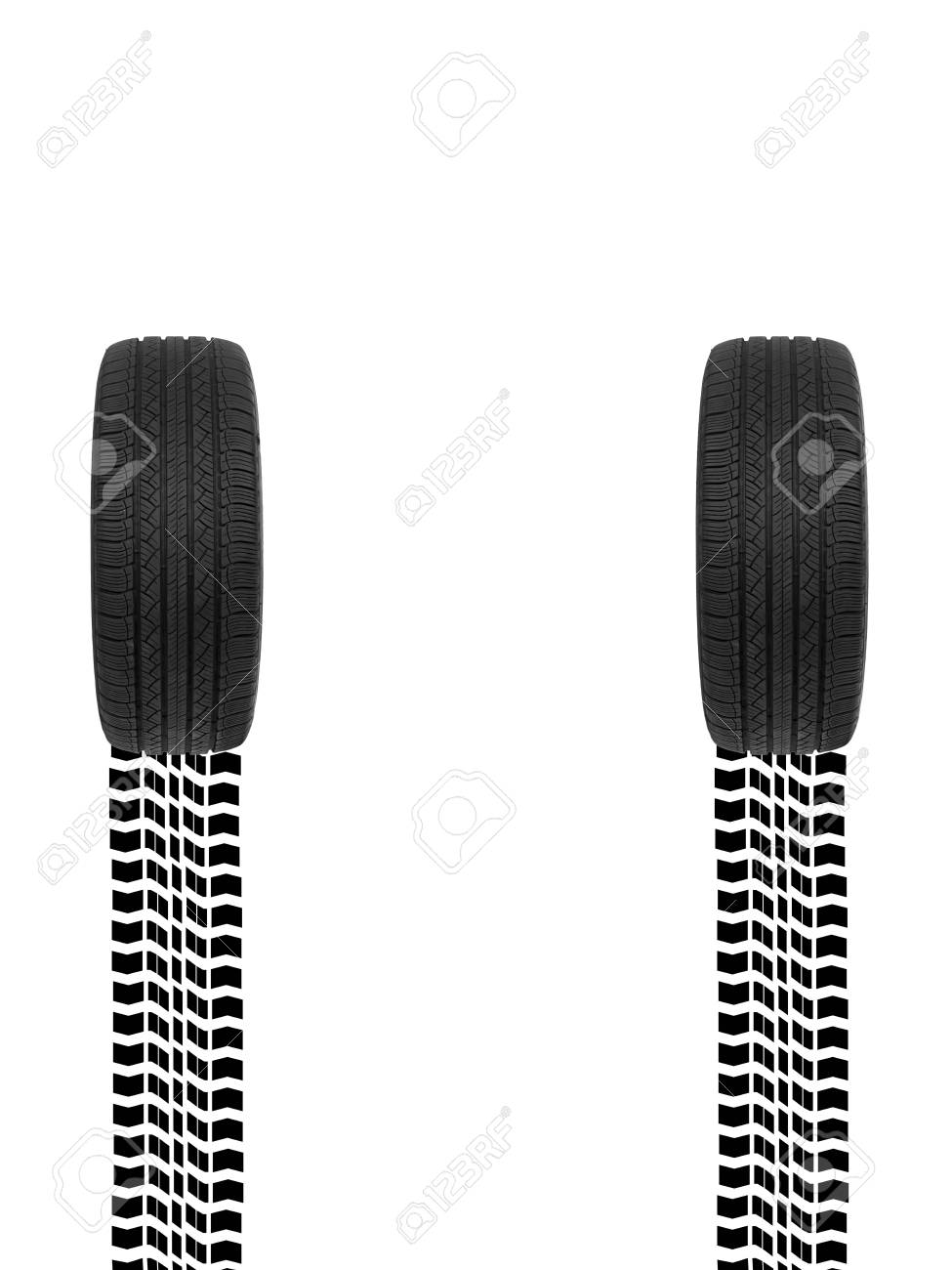 A black rubber tyre isolated against a white background Stock Photo - 22384137