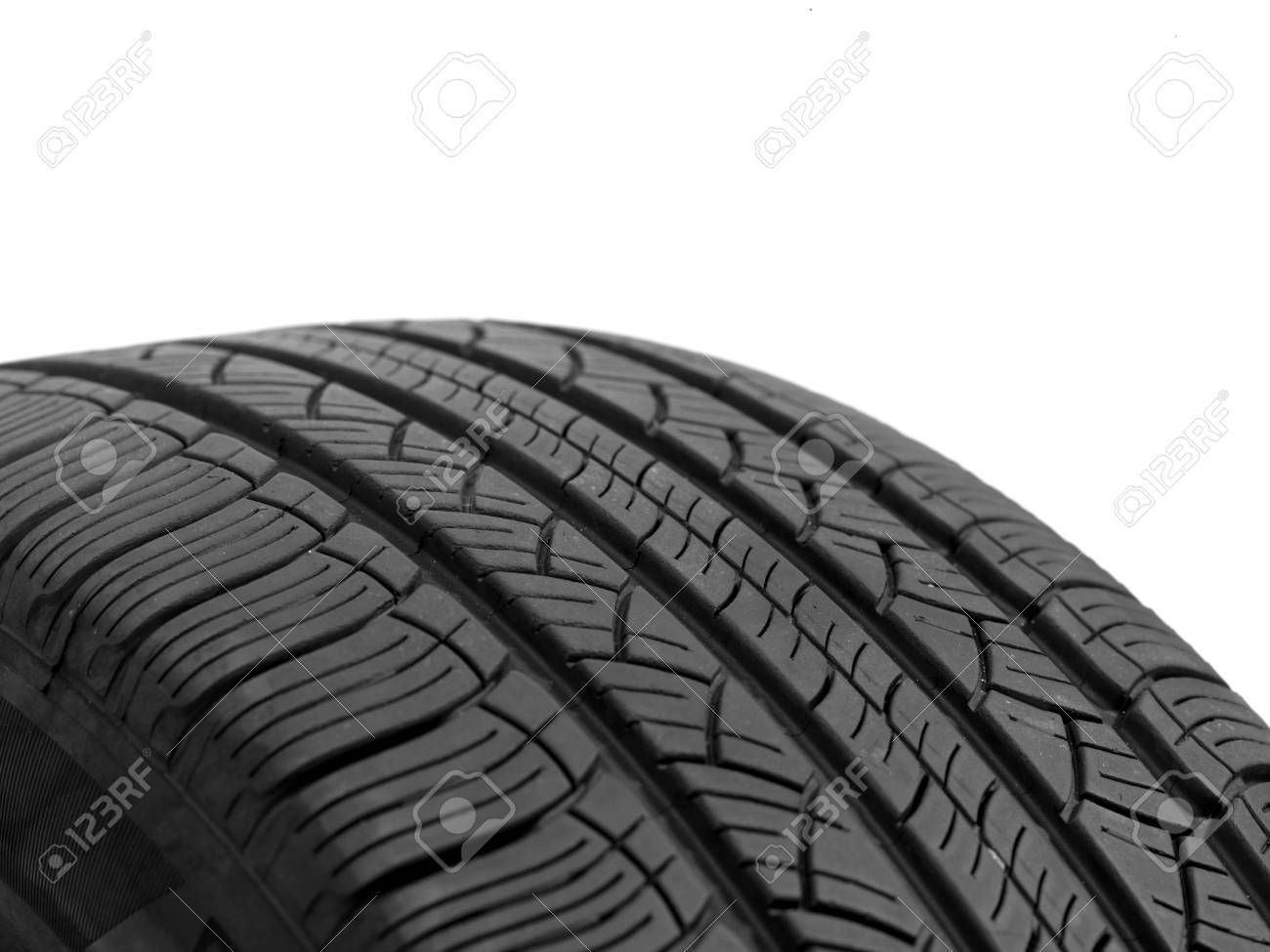 A black rubber tyre isolated against a white background Stock Photo - 22391390