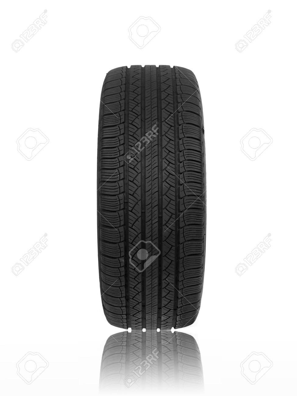 A black rubber tyre isolated against a white background Stock Photo - 22384161