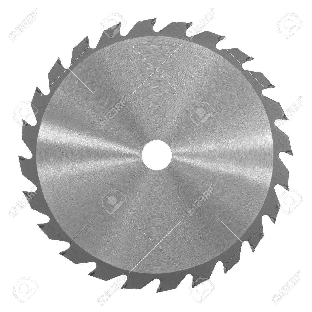 A saw blade isolated against a white background Stock Photo - 22640987