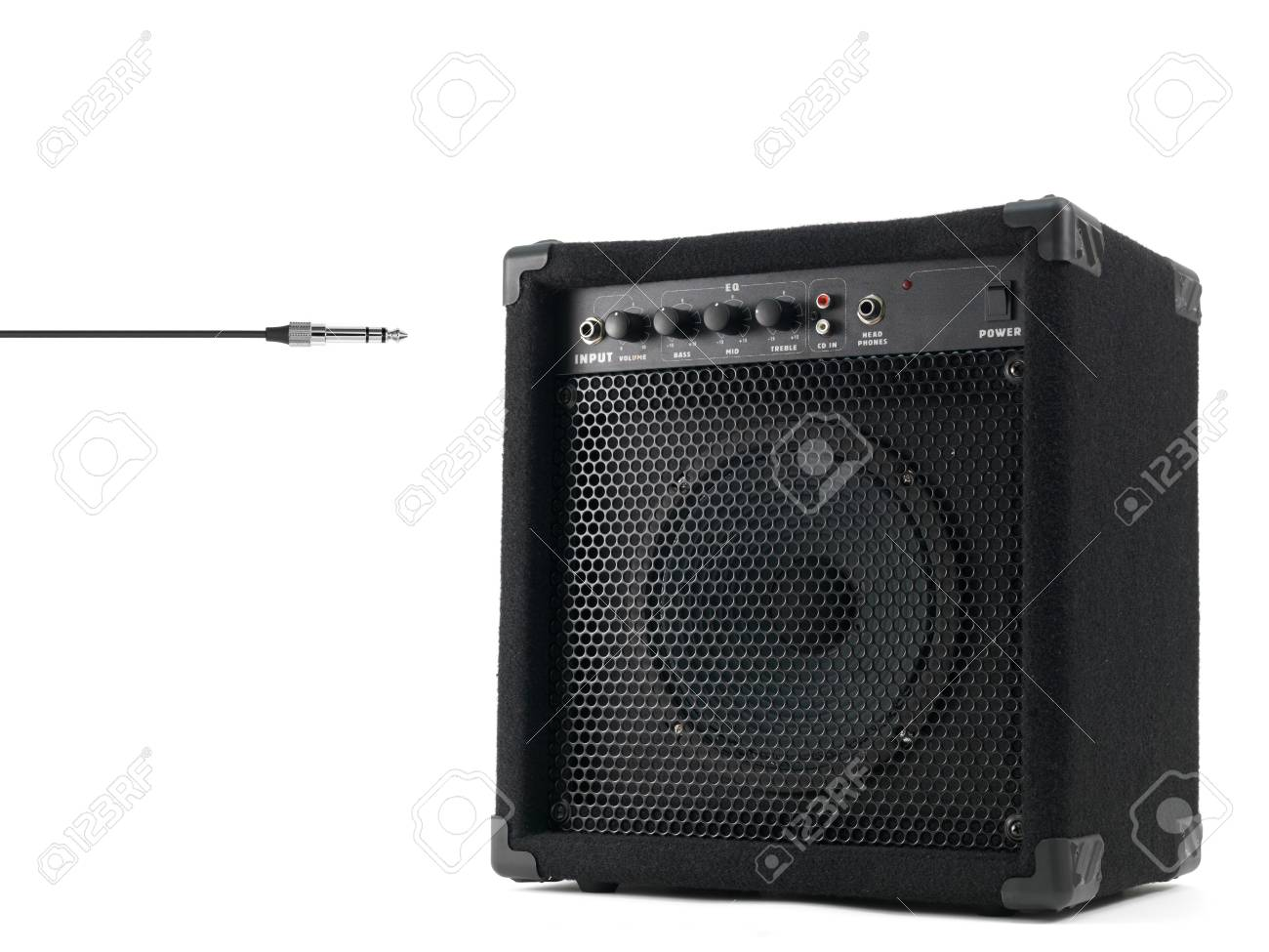 Musical equipment isolated against a plain background Stock Photo - 25490656