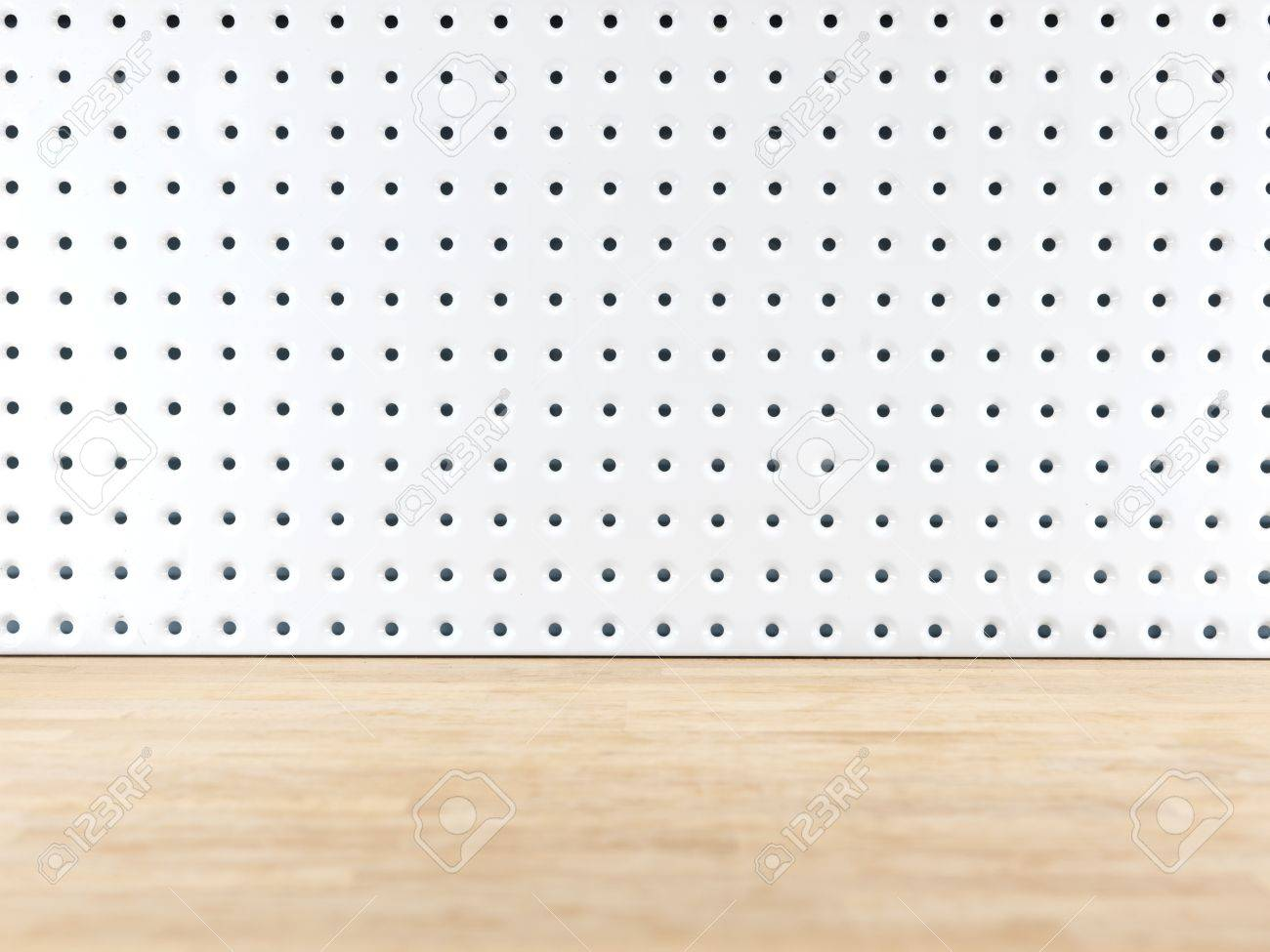 A close up shot of a workshop peg board Stock Photo - 43229760