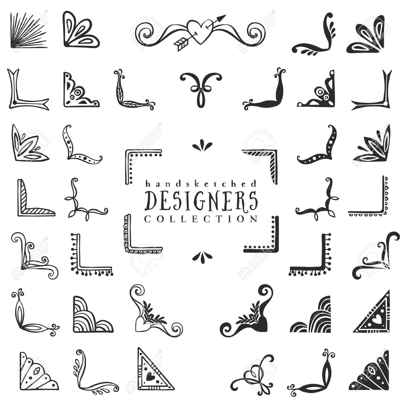 Decorative Text Boxes Hand Drawn Doodle Book Corners  Stock Vector …  Pinteres…