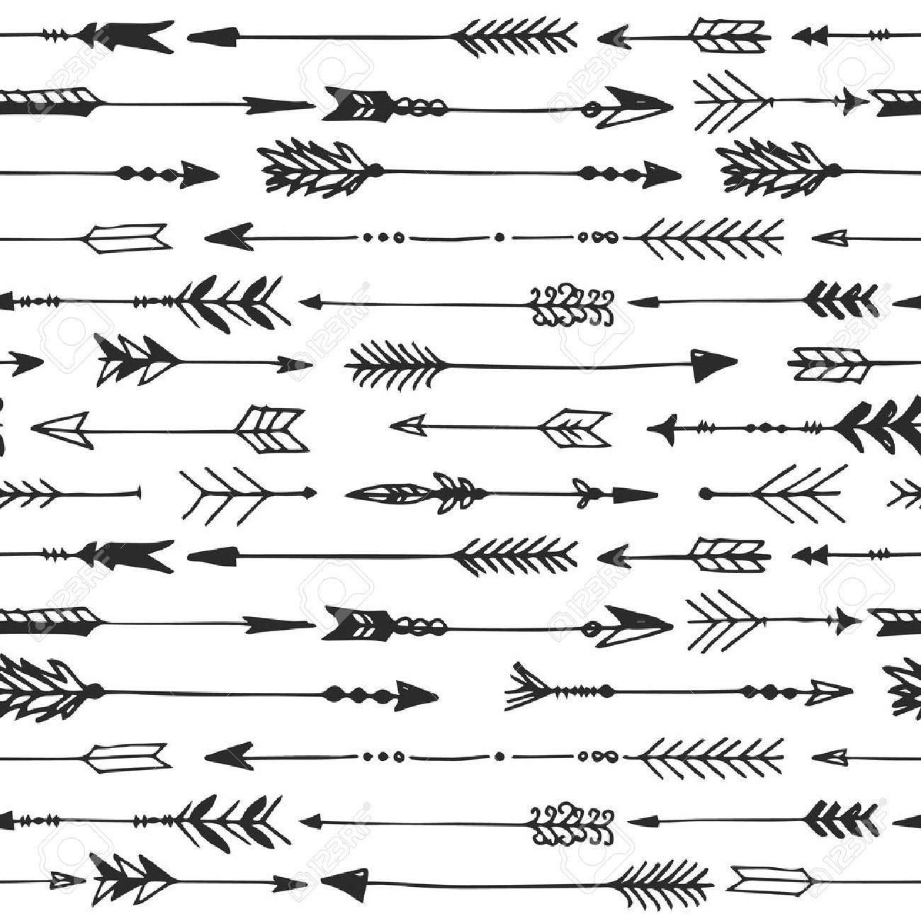 arrow rustic seamless pattern hand drawn vintage vector background rh 123rf com arrow vintage illustration vector Vintage Arrow Graphic