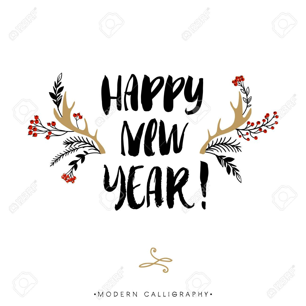 Happy New Year Lettering Design 27