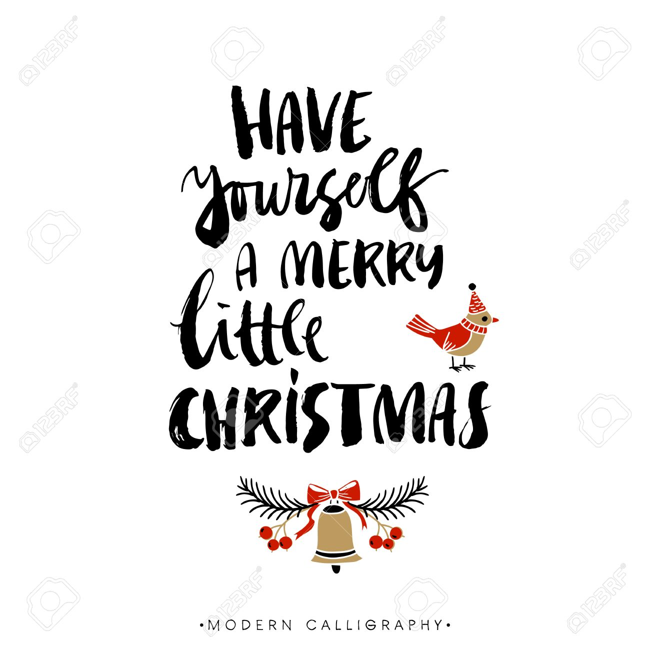 have yourself a merry little christmas christmas calligraphy