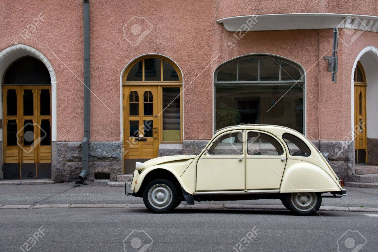 Small Old Car in the City Stock Photo - 5249068