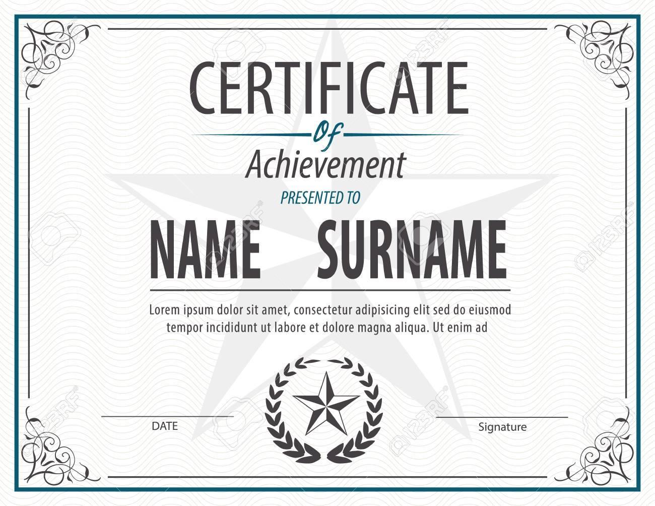 Horizontal certificate templatediplomaletter size vector royalty horizontal certificate templatediplomaletter size vector stock vector 46627106 spiritdancerdesigns Images