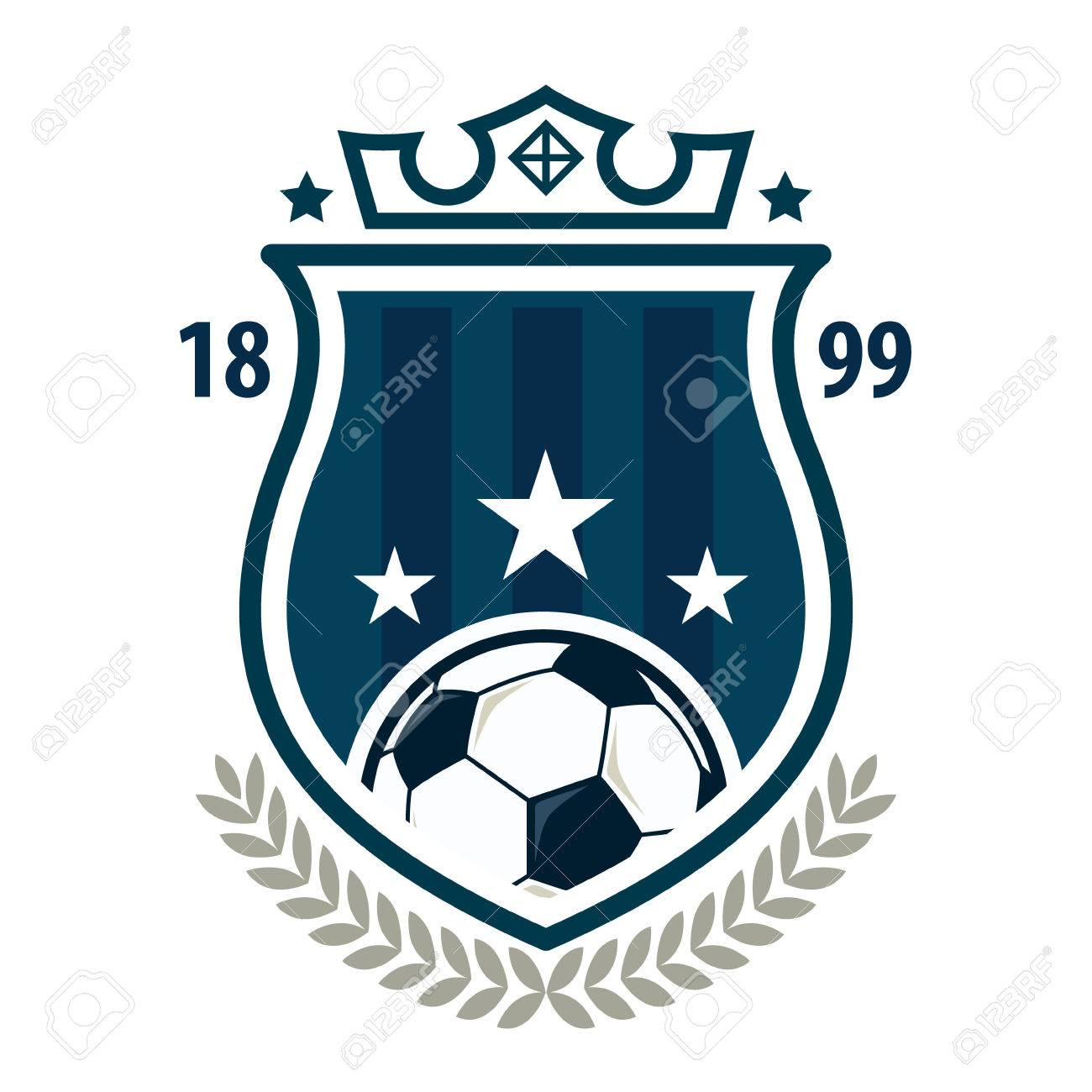 Amazing Football Badge Logo Template Design,soccer Team,vector Illuatration Stock  Vector   46627439