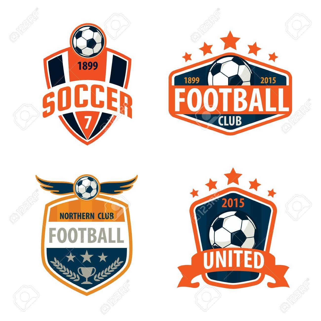 Football Badge Logo Template Collection Design,soccer Team,vector  Illuatration Stock Vector   46627448