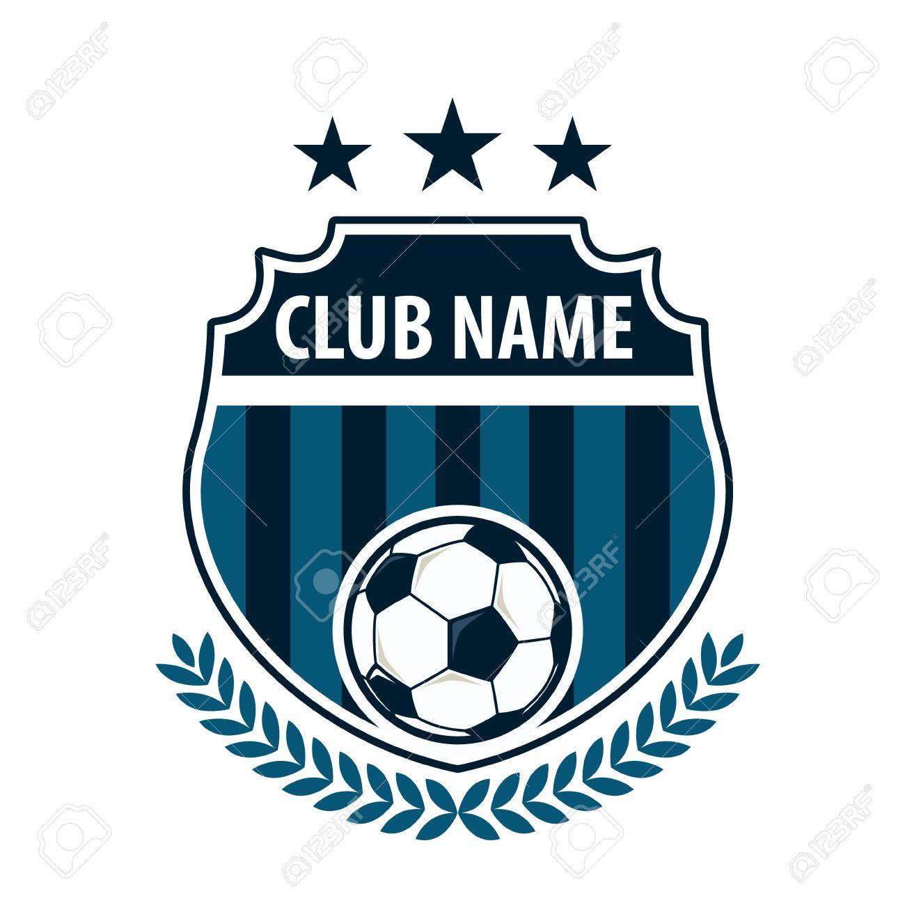 Football Badge Logo Template Designsoccer Teamvector Illuatration