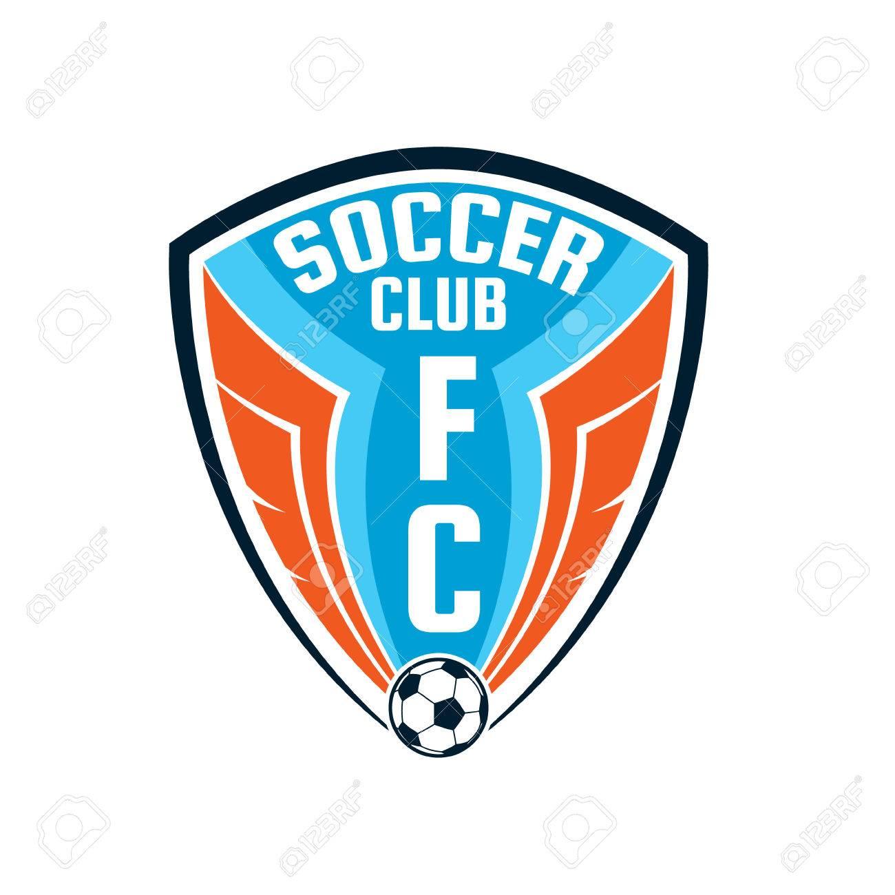 Football Badge Logo Template Design,soccer Team,vector Illuatration Stock  Vector   46627686