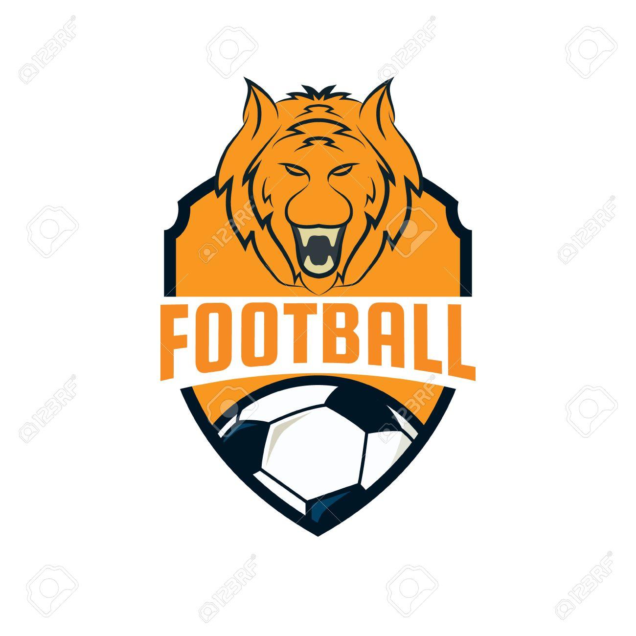football logo design soccer team vector illustration royalty free rh 123rf com football logo design your own football logo designer