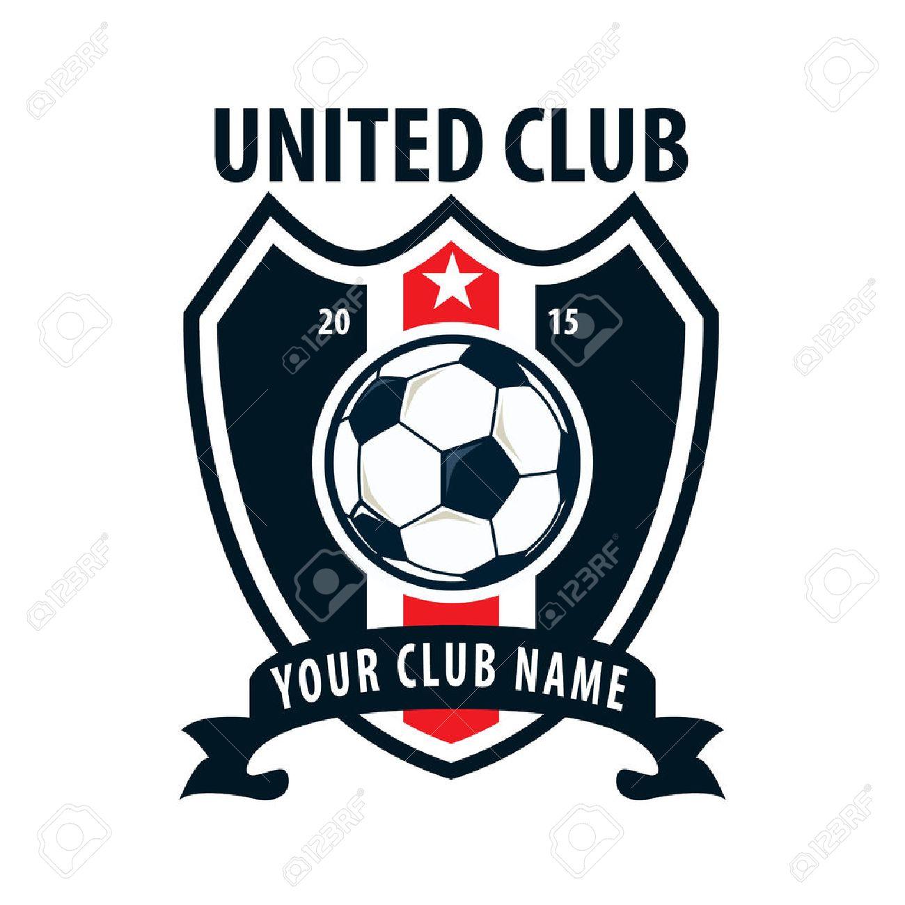 サッカー バッジ ロゴ テンプレート設計 サッカー チームのベクトルの