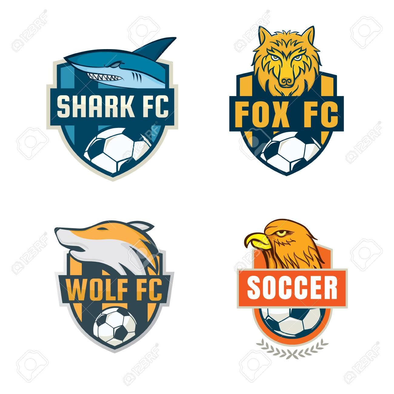 football badge logo template collection design soccer team vector