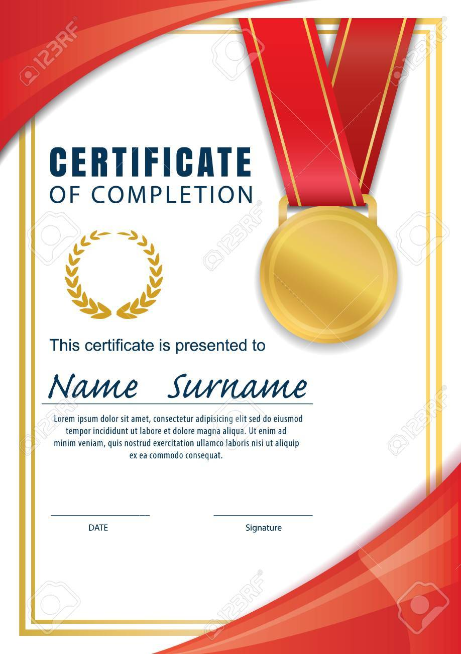 Certificate Templatediplomaa4 Size Vector Royalty Free Cliparts